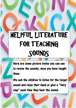 Sample creative phonics lesson plans and literature to teach phonics