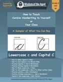 How To Teach Cursive Handwriting Video and Worksheet Freebie