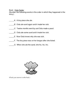 Sample for Learning to Retell with Oola Oyster