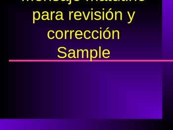Sample of Capitalization Practice and Personal Narrative in Spanish