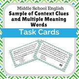 Sample of Context Clues and Multiple Meaning Words Task Cards