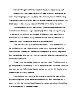 Sample of Informative Writing Essay