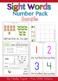 Sample of Number Sight Words by Fun With Mama