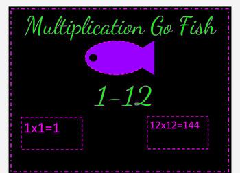 Sample of my Multiplication Go Fish