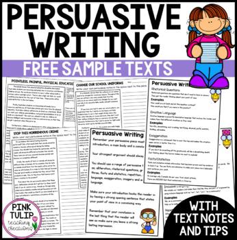 Sample Persuasive Pieces - 3 examples including persuasive