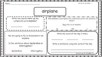 Sample word skills packet (NO PREP)