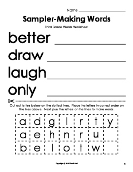 Sampler Making Words