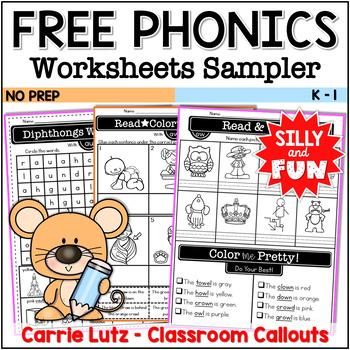 Sampler Phonics Worksheets Bundle