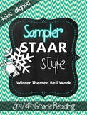 Sampler STAAR Style Winter Bell Work (TEKS Aligned) 3rd/4th Grade