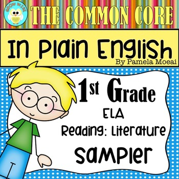FREEBIE!  Common Core in Plain English: 1st Grade Reading