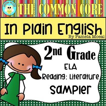 FREEBIE!  Common Core in Plain English: 2nd Grade Reading - ELA Sampler