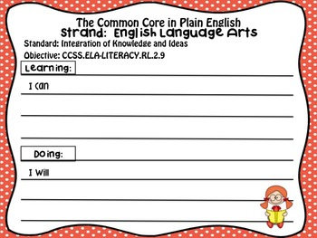 FREEBIE!  Common Core in Plain English: 2nd Grade Reading - ELA Sampler