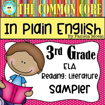 FREEBIE!  Common Core in Plain English: 3rd Grade Reading - ELA Sampler