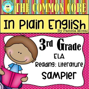FREEBIE!  Common Core in Plain English: 3rd Grade Reading