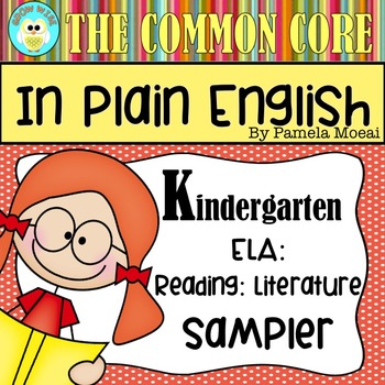 FREEBIE!  Common Core in Plain English: Kindergarten Reading - ELA Sampler