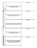 Sampling, Bias, and Study Methods Vocabulary Foldable