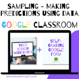 Sampling - Making Predictions Using Data - Google Form & Video Lesson!
