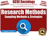 Sampling Methods & Strategies - Research Methods (GCSE Soc
