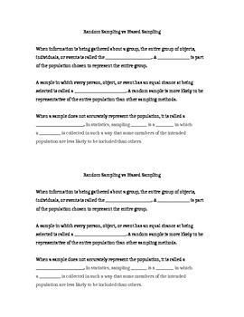 Sampling Notes