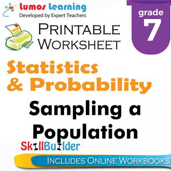 Sampling a Population Printable Worksheet, Grade 7