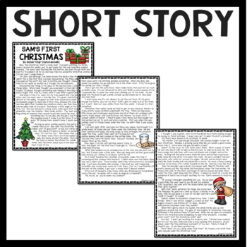 Christmas Short Stories.Sam S First Christmas Short Story Reading And Comprehension Questions