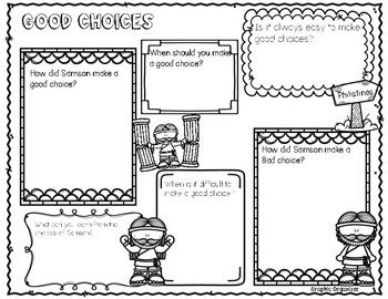Samson Bible Lesson on making good choices (1st/2nd grade Series)