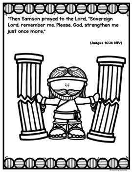 Samson Bible Story Lesson (All About Series Preschool/Kindergarten)