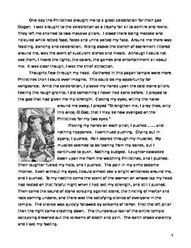 Samson Historical Fiction reading and writing response