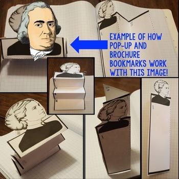 Samuel Adams Biography Research, Bookmark Brochure, Pop-Up, Writing Google