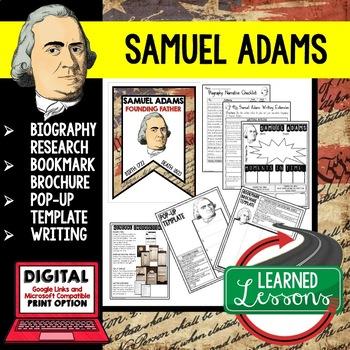 Samuel Adams Biography Research, Bookmark Brochure, Pop-Up