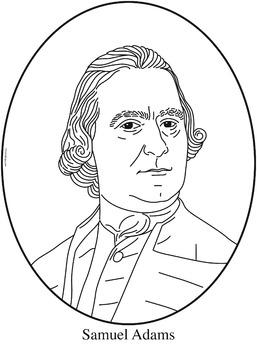 Samuel Adams Clip Art, Coloring Page, or Mini-Poster