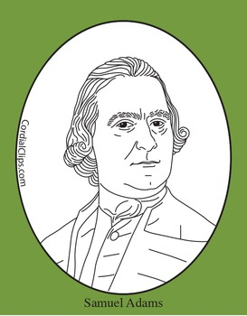 Samuel Adams Clip Art, Coloring Page, or Mini-Poster