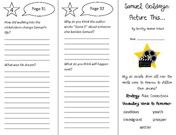 Samuel Goldwyn: Picture This... Trifold - 4th Grade Literacy by Design Theme 1