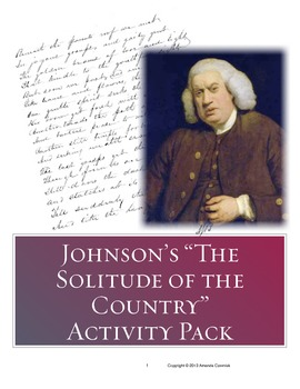"Samuel Johnson's ""The Solitude of the Country"" Activity Pack"