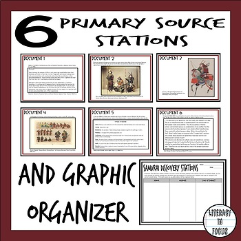 Samurai Discovery Stations with DBQ (Samurai Primary Sources Included!)