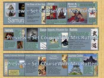 Samurai: Learning About Japan; slideshow; note taking; project options