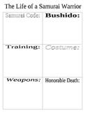 Samurai Life - Worksheet