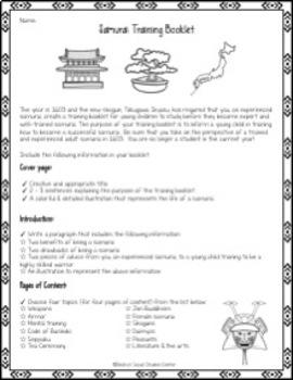 Samurai Project of Feudal Japan - Training Booklet