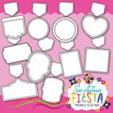 San Antonio Fiesta Blank Medals Clip Art