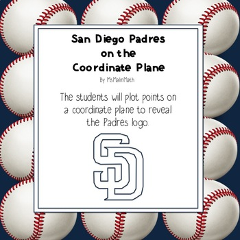 San Diego Padres Logo on the Coordinate Plane