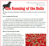 San Fermin Running of the Bulls Reading