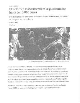 San Fermines - IPA (Interpretive) Activity