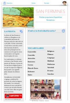 San Fermines - Running of the bulls Spain- Holidays around the world - Spanish