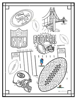 San Francisco 49ers - Patrick and Spongebob - Coloring Pages | 350x270