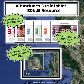 San Francisco and Monterey Bay STEM Discovery Cards Kit Bundle