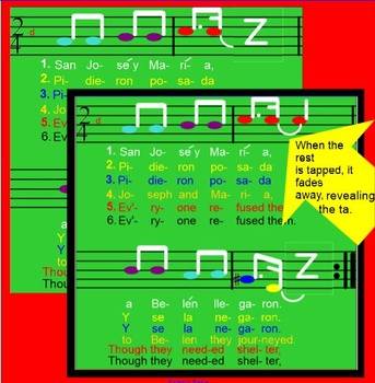 San Jose y Maria ~ Trad. Mexican Christmas Song~ tim-ka & ties~SMARTboard
