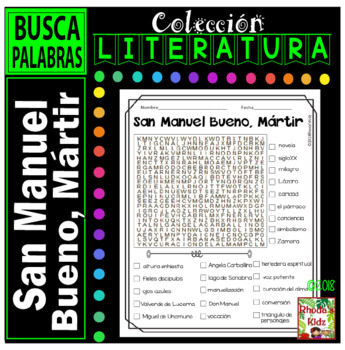 San Manuel Bueno, Mártir   -Word search