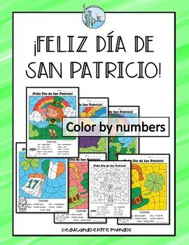 San Patricio Color By Number Saint Patrick's Spanish