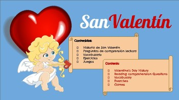 VALENTINE'S DAY! READINGS, READING COMPREHENSION EXERCISES, GAMES AND MUCH MORE!