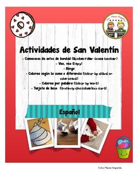 San Valentín Spanish Valentine's Activities